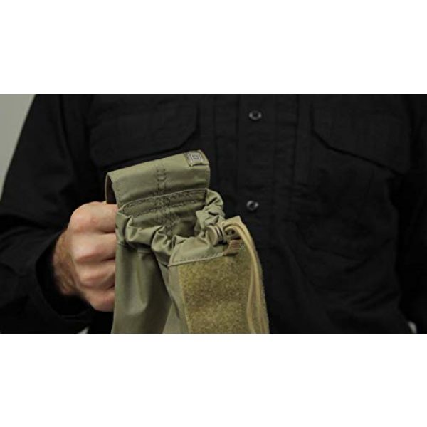 5.11 Tactical Pouch 6 5.11 Tactical Expandable Large Drop Pouch, 10-Inch Storage, Water/Weather Resistant, Style 58703