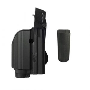 Ultimate Arms Gear Tactical Pouch 1 Ultimate Arms Gear Sig Sauer Sigtac Level 2 Glock 17 19 22 23 25 31 32 With Light/Laser Retention Right Hand Paddle Holster, Black 9mm/.40/.45 Magazine Belt Clip Pouch Holder