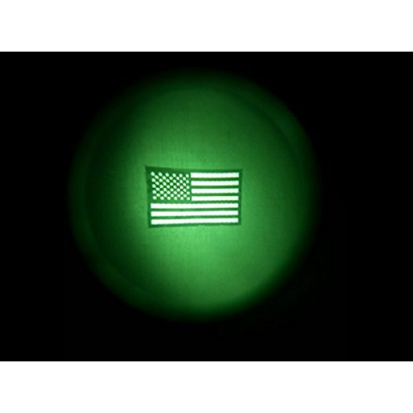 Empire Tactical USA Airsoft Morale Patch 2 Black and Tan Us Ir Infrared USA Flag Military Morale Reflective Patch