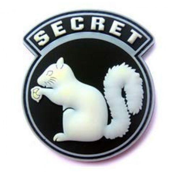 Tactical PVC Patch Airsoft Morale Patch 2 Secret Squirrel Morale Military Patch 3D PVC Rubber Tactical Rubber Hook Patch (4pcs)