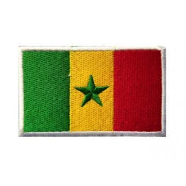 Tactical Embroidery Patch Airsoft Morale Patch 1 Senegal Flag Embroidery Patch Military Tactical Morale Patch Badges Emblem Applique Hook Patches for Clothes Backpack Accessories
