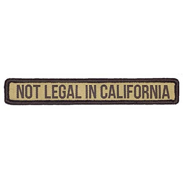 F-Bomb F Morale Gear Airsoft Morale Patch 1 Not Legal in California - Embroidered Morale Patch with Hook Backing (Arid)