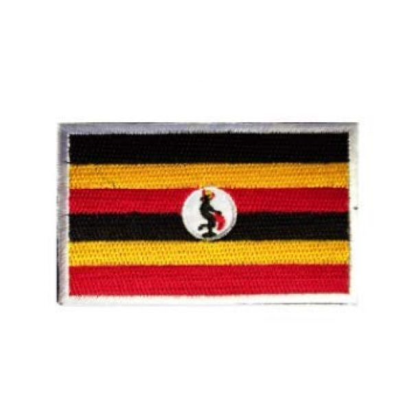 Tactical Embroidery Patch Airsoft Morale Patch 1 Uganda Flag Embroidery Patch Military Tactical Morale Patch Badges Emblem Applique Hook Patches for Clothes Backpack Accessories