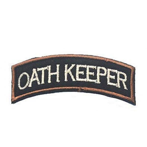 Embroidery Patch Airsoft Morale Patch 1 Oath Keeper Military Hook Loop Tactics Morale Embroidered Patch