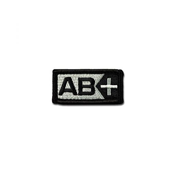 BASTION Airsoft Morale Patch 1 BASTION Morale Patches (Blood Type AB Pos, BNW)   3D Embroidered Patches with Hook & Loop Fastener Backing   Well-Made Clean Stitching   Military Patches for Tactical Bag, Hats & Vest