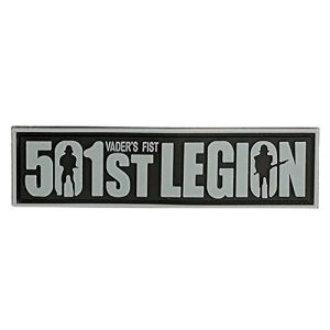 Tactical PVC Patch Airsoft Morale Patch 1 Star Wars 501st Legion Vader's Fist Morale Military Patch 3D PVC Rubber Tactical Rubber Hook Patch (Gray)