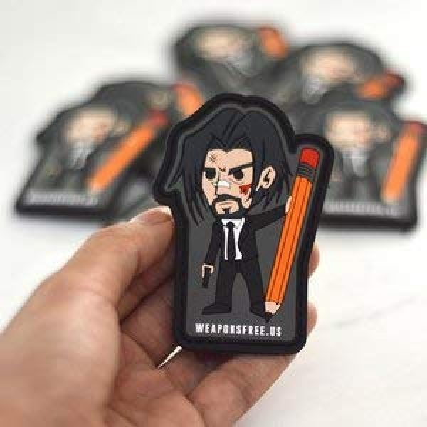 weaponsfree.us Airsoft Morale Patch 3 John Wick Custom Tactical Morale PVC Patch