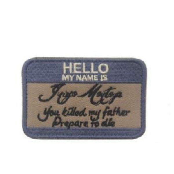 Embroidered Patch Airsoft Morale Patch 2 2pc Hello My Name is Inigo Montoya 3D Tactical Patch Military Embroidered Morale Tags Badge Embroidered Patch DIY Applique Shoulder Patch Embroidery Gift Patch
