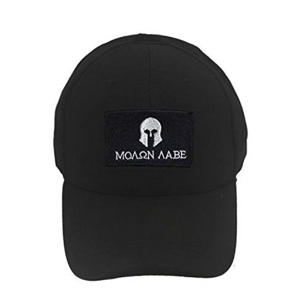 Acbell Airsoft Morale Patch 4 Molon Labe Milltary Tactical Morale Patches Fabric Embroidered Emblem Badges with Fastener Hook & Loop 2Pcs