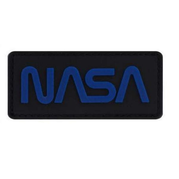 Tactical PVC Patch Airsoft Morale Patch 1 NASA Logo National Aeronautics and Space Administration PVC Military Tactical Morale Patch Badges Emblem Applique Hook Patches for Clothes Backpack Accessories