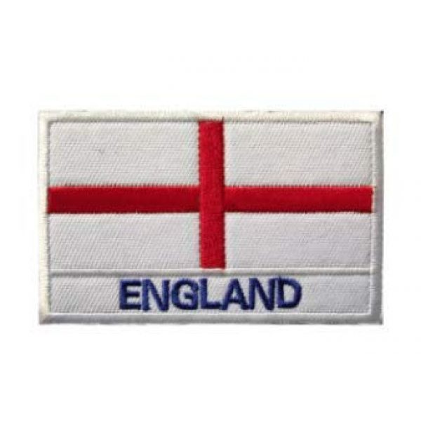 Tactical Embroidery Patch Airsoft Morale Patch 1 England Flag Embroidery Patch Military Tactical Morale Patch Badges Emblem Applique Hook Patches for Clothes Backpack Accessories