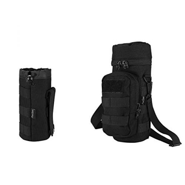 ProCase Tactical Pouch 1 ProCase Tactical Molle Water Bottle Pouch Bundle with Water Bottle Pouch with Extra Accessory Pouch and Detachable Shoulder Strap