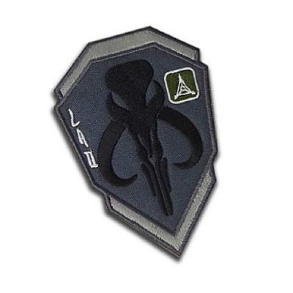 Embroidery Patch Airsoft Morale Patch 2 Star Wars Boba Fett Mandalorian Bantha Skull Military Hook Loop Tactics Morale Embroidered Patch (color3)