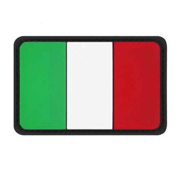 Tactical PVC Patch Airsoft Morale Patch 1 Italy Flag PVC Military Tactical Morale Patch Badges Emblem Applique Hook Patches for Clothes Backpack Accessories