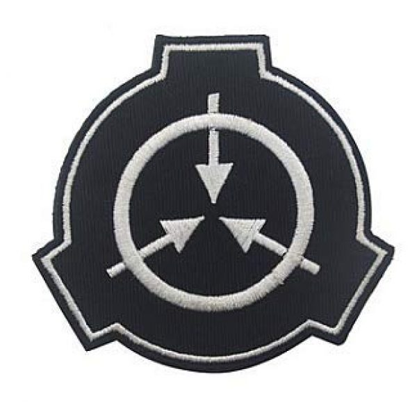 Embroidery Patch Airsoft Morale Patch 1 SCP Foundation Special Containment Procedures Foundation Logo Military Hook Loop Tactics Morale Embroidered Patch (color1)