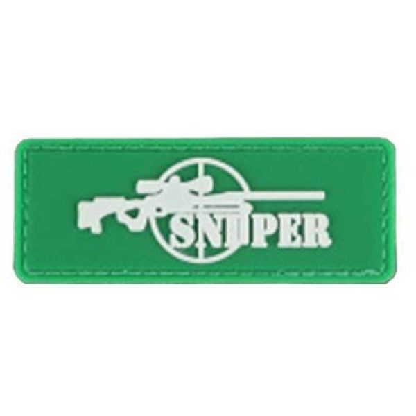 Tactical PVC Patch Airsoft Morale Patch 1 Sniper Sight PVC Military Tactical Morale Patch Badges Emblem Applique Hook Patches for Clothes Backpack Accessories
