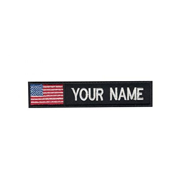 DREAM ARMY Airsoft Morale Patch 1 USA American Flag Color Custom Name Tape Embroidered Morale Patch Hook Backing (5x1inch)