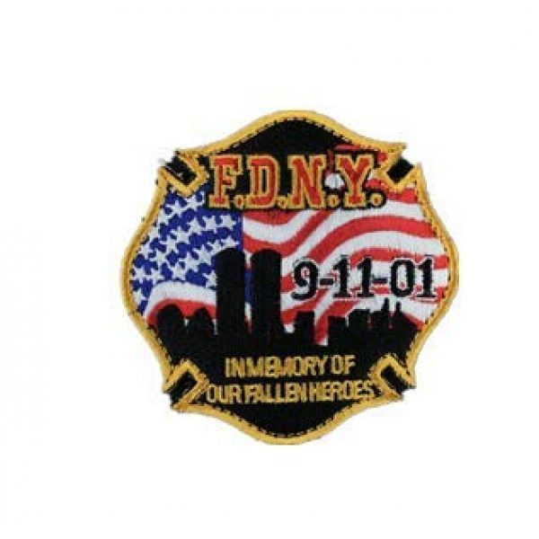 Embroidered Patch Airsoft Morale Patch 1 F.D.N.Y. 9-11-01 3D Tactical Patch Military Embroidered Morale Tags Badge Embroidered Patch DIY Applique Shoulder Patch Embroidery Gift Patch