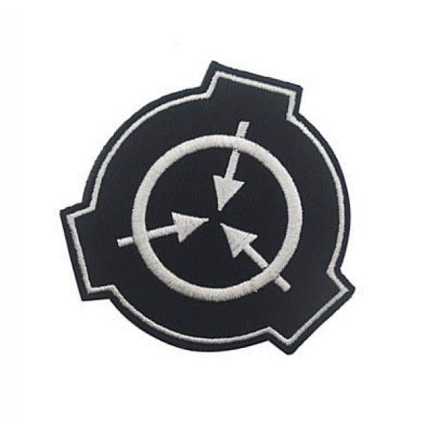 Embroidery Patch Airsoft Morale Patch 3 SCP Foundation Special Containment Procedures Foundation Logo Military Hook Loop Tactics Morale Embroidered Patch (color1)