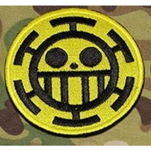 Embroidered Patch Airsoft Morale Patch 1 One Piece Pirate of Heart Character 3D Tactical Patch Military Embroidered Morale Tags Badge Embroidered Patch DIY Applique Shoulder Patch Embroidery Gift Patch