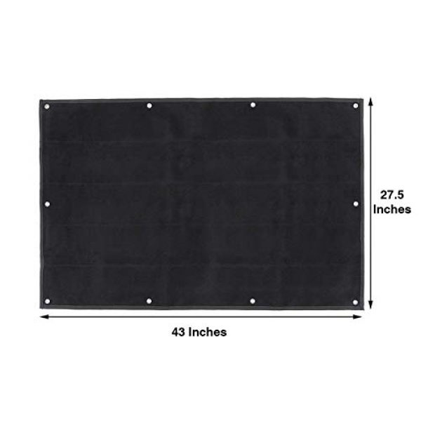 GOTAC Airsoft Morale Patch 5 Tactical Patch Display Holder Panel Board for Military Army Morale Hook and Loop Emblems, 43 Inches x 27.5 Inches, with 1 US Flag Patch Included