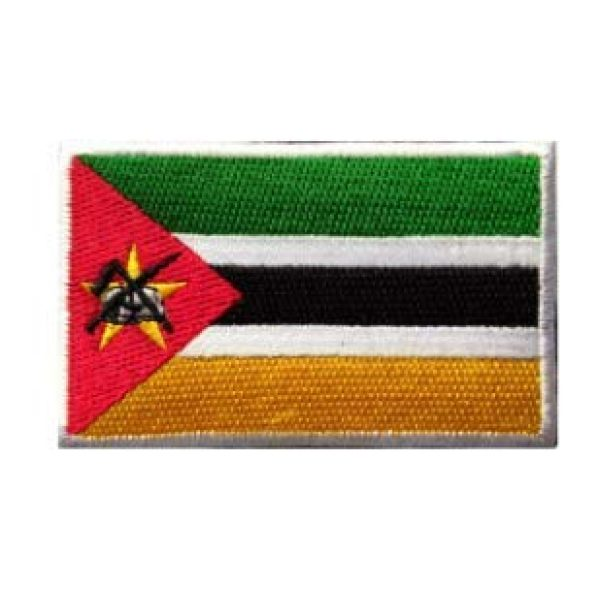 Tactical Embroidery Patch Airsoft Morale Patch 1 Mozambique Flag Embroidery Patch Military Tactical Morale Patch Badges Emblem Applique Hook Patches for Clothes Backpack Accessories