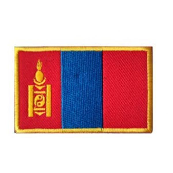 Tactical Embroidery Patch Airsoft Morale Patch 1 Mongolia Flag Embroidery Patch Military Tactical Morale Patch Badges Emblem Applique Hook Patches for Clothes Backpack Accessories
