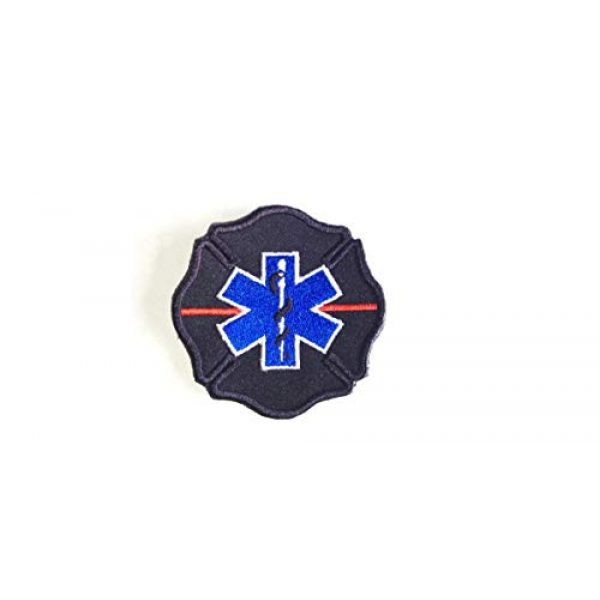 DREAM ARMY Airsoft Morale Patch 1 FIREFIGTER Thin RED LINE Rescue Diver Flag Patch Scuba Star of Life EMT Paramedic Morale Patch Hook Backing