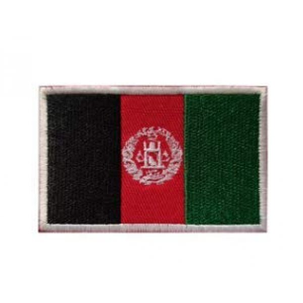 Tactical Embroidery Patch Airsoft Morale Patch 1 Afghanistan Flag Embroidery Patch Military Tactical Morale Patch Badges Emblem Applique Hook Patches for Clothes Backpack Accessories
