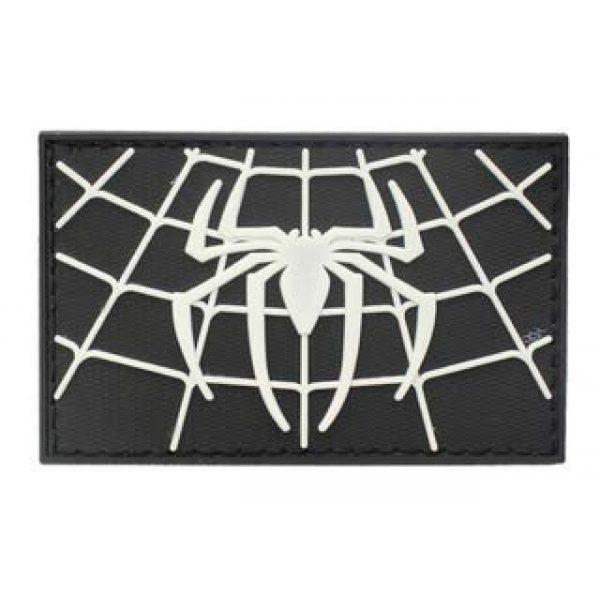 Tactical PVC Patch Airsoft Morale Patch 2 Spiderman Superhero PVC Military Tactical Morale Patch Badges Emblem Applique Hook Patches for Clothes Backpack Accessories
