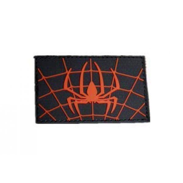Tactical PVC Patch Airsoft Morale Patch 1 Spiderman Marvel Comics Superhero PVC Military Tactical Morale Patch Badges Emblem Applique Hook Patches for Clothes Backpack Accessories