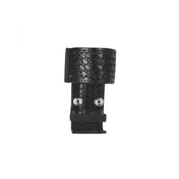 Boston Leather Tactical Pouch 1 Boston Leather 5487-5 Black Nylon Deluxe Adjustable Radio Holder Nickel Snap