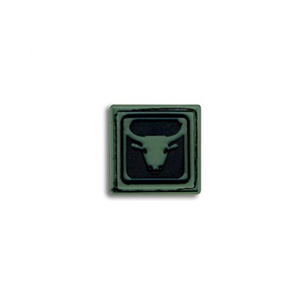 BASTION Airsoft Morale Patch 2 Bastion Tactical Combat Badge PVC Morale Patch Hook and Loop Patch - Taurus Drk Grn