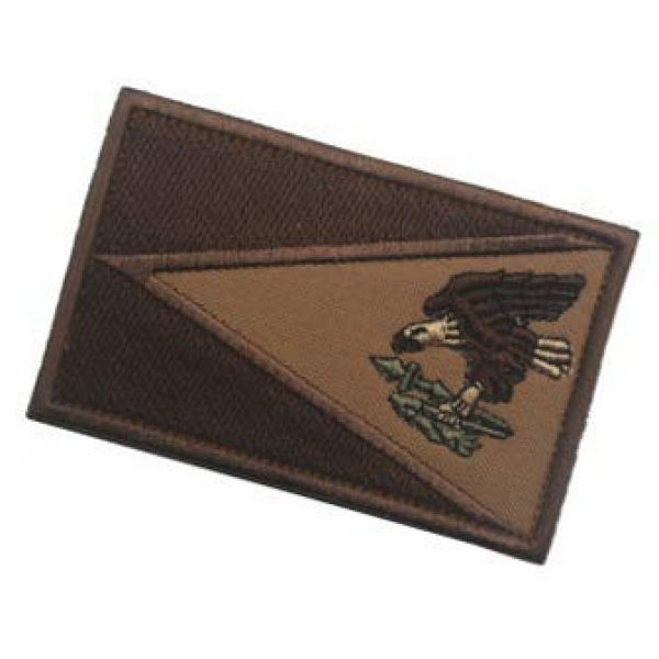Embroidery Patch Airsoft Morale Patch 3 American Samoa Flag Patch Military Hook Loop Tactics Morale Embroidered Patch (coloor2)