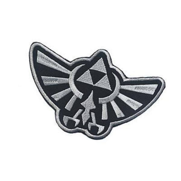 Embroidery Patch Airsoft Morale Patch 3 Zelda Hyrule Crest Wing Triforce Military Hook Loop Tactics Morale Embroidered Patch (color1)