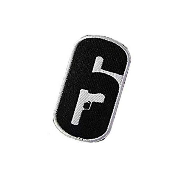 Embroidery Patch Airsoft Morale Patch 3 Rainbow Six Logo Military Hook Loop Tactics Morale Embroidered Patch