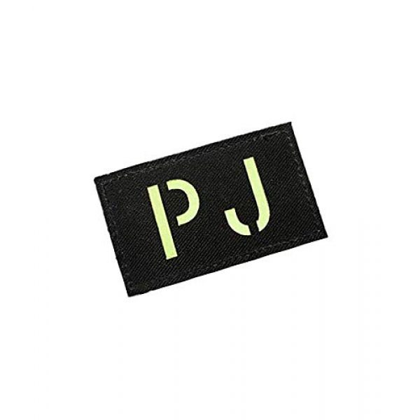 Embroidery Patch Airsoft Morale Patch 2 Pararescue Jumpers PJ Glow in The Dark Military Hook Loop Tactics Morale Patch