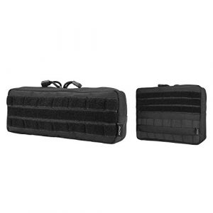 ProCase Tactical Pouch 1 ProCase Tactical Admin Pouch (Smaller) Bundle with Tactical Admin Molle Pouch (Bigger)