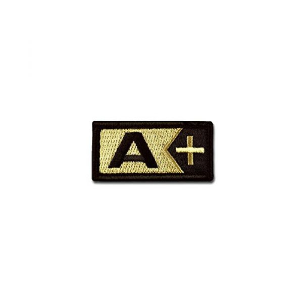 BASTION Airsoft Morale Patch 1 BASTION Morale Patches (Blood Type A Pos, ACU) | 3D Embroidered Patches with Hook & Loop Fastener Backing | Well-Made Clean Stitching | Military Patches for Tactical Bag, Hats & Vest
