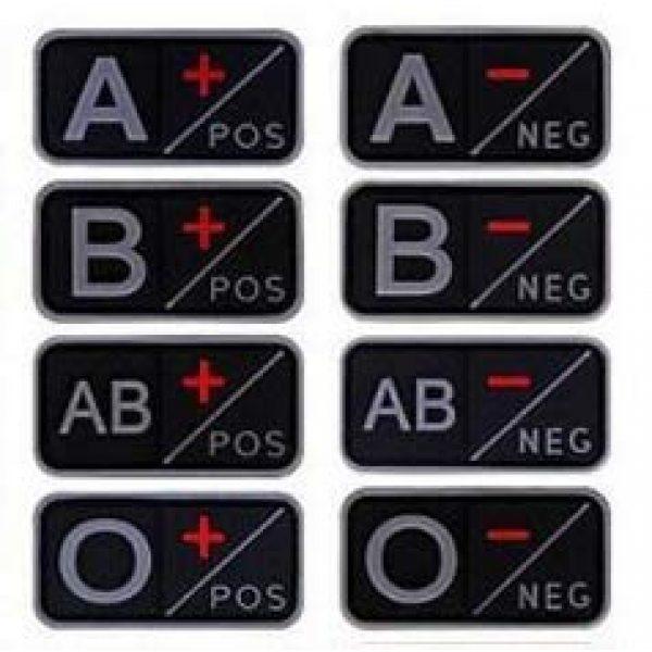 Tactical PVC Patch Airsoft Morale Patch 1 2pcs Blood Type PVC Military Tactical Morale Patch Badges Emblem Applique Hook Patches for Clothes Backpack Accessories
