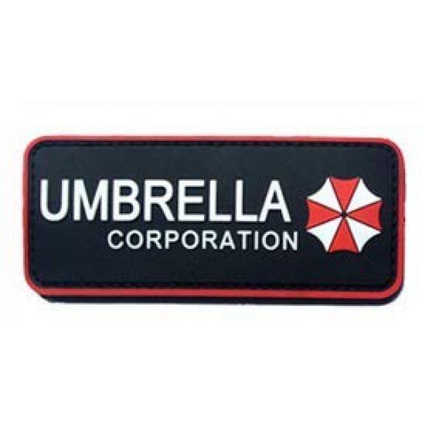 Tactical PVC Patch Airsoft Morale Patch 1 Resident Evil Umbrella Morale Military Patch 3D PVC Rubber Tactical Rubber Hook Patch