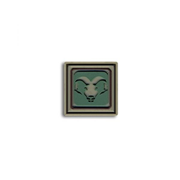 BASTION Airsoft Morale Patch 1 Bastion Tactical Combat Badge PVC Morale Patch Hook and Loop Patch - Aries Lite Grn