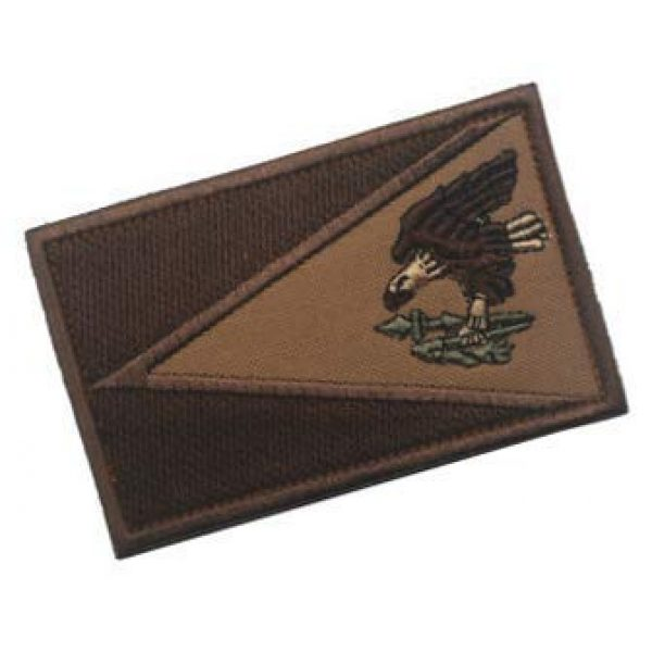 Embroidery Patch Airsoft Morale Patch 2 American Samoa Flag Patch Military Hook Loop Tactics Morale Embroidered Patch (coloor2)