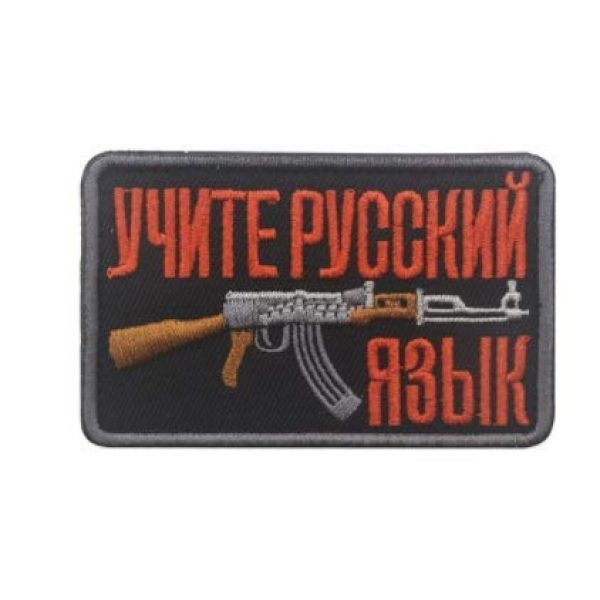 Embroidered Patch Airsoft Morale Patch 4 3pc Soviet Russian AK 47 Kalashnikov Shell Rifle Gun Assault Army Battle 3D Tactical Patch Military Embroidered Morale Tags Badge Embroidered Patch DIY Applique Shoulder Patch Embroidery Gift Patch
