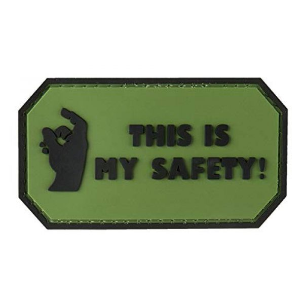 G-Force Airsoft Morale Patch 1 This is My Safety PVC Morale Patch - OD Green