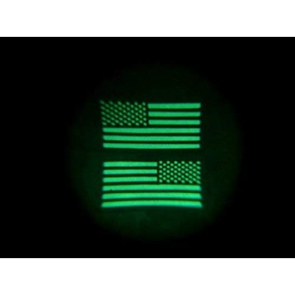 Empire Tactical USA Airsoft Morale Patch 2 Forward OD Green Us IR Infrared Reflective USA Flag Military Morale Uniform (Hook/Loop) Patch