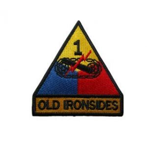 Tactical Embroidery Patch Airsoft Morale Patch 1 1st Armored Division Old Ironsides Tank Armor Tactical Embroidery Patch Hook & Loop Morale Patch Military Patch for Clothing Accessory Backpack Armband (color2)