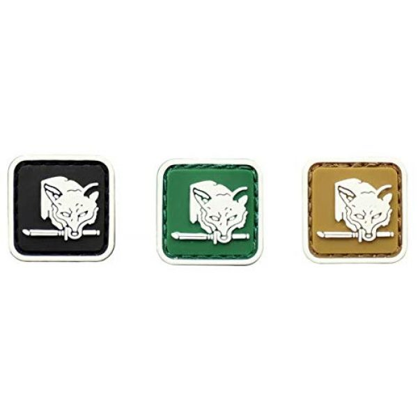 Tactical PVC Patch Airsoft Morale Patch 1 3pcs Mini Size Metal Gear Solid Foxhound Fox Hound Glowing in Dark PVC Military Tactical Morale Patch Badges Emblem Applique Hook Patches for Clothes Backpack Accessories
