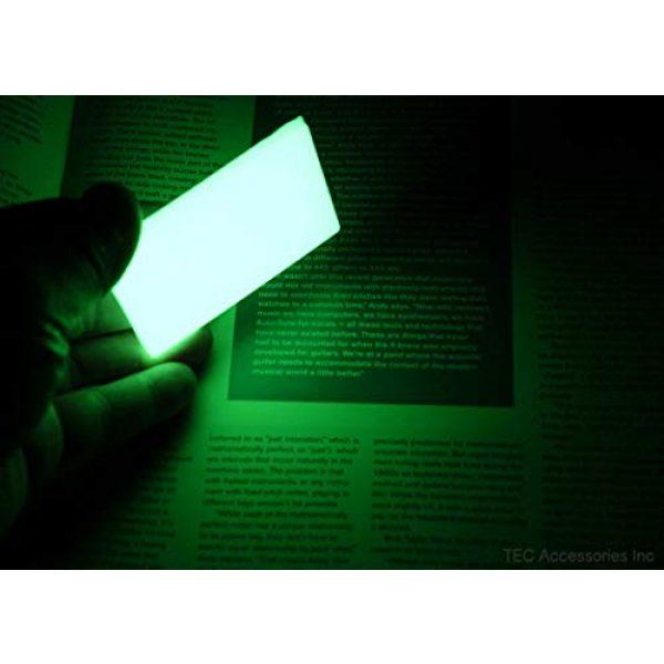"TEC Accessories Airsoft Morale Patch 2 Embrite BEACON Morale Patch - 2"" x 3"" glow in the dark Velcro attachment"
