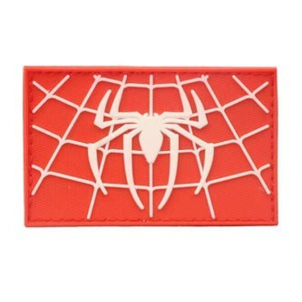 Tactical PVC Patch Airsoft Morale Patch 5 Spiderman Superhero PVC Military Tactical Morale Patch Badges Emblem Applique Hook Patches for Clothes Backpack Accessories